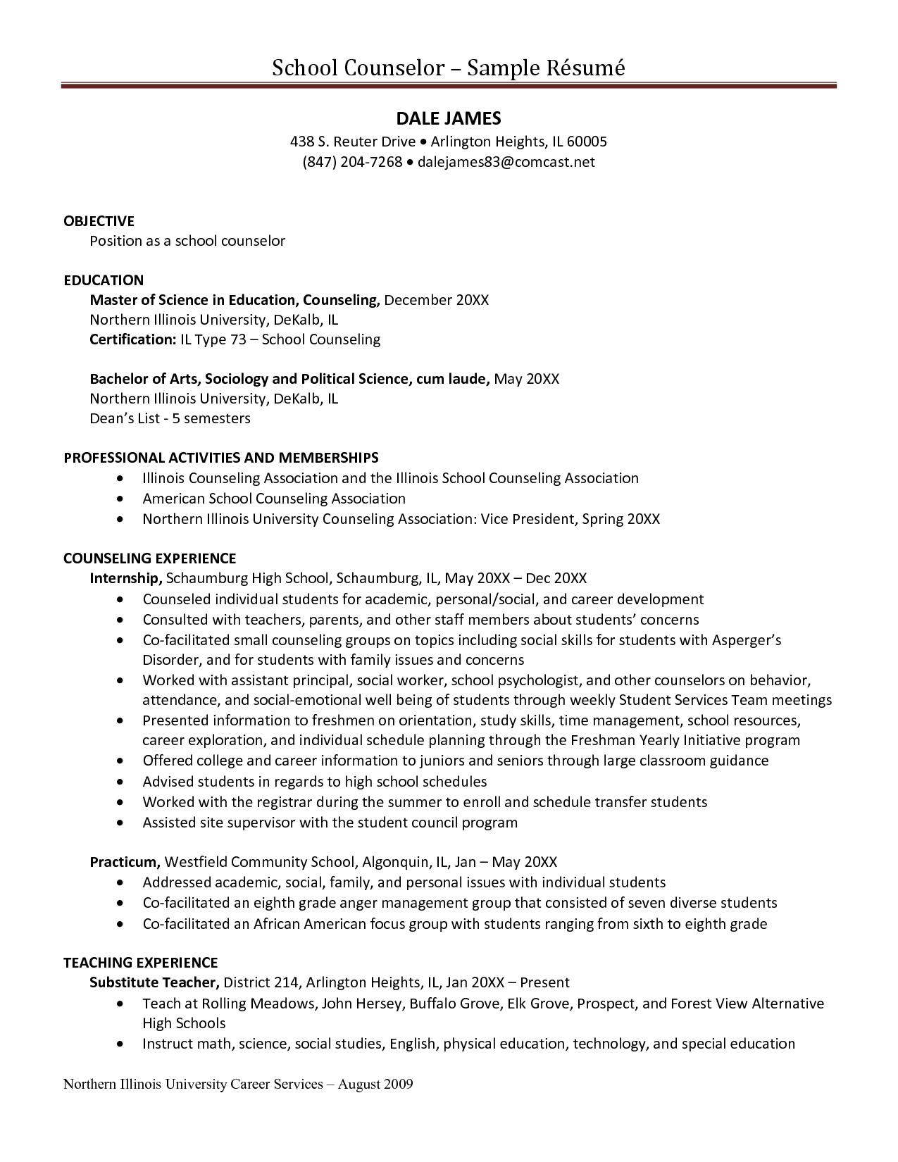 guidance counselor resume counseling resume sample - Counseling Resume Sample