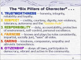 pillars of character essay six pillars of character essay