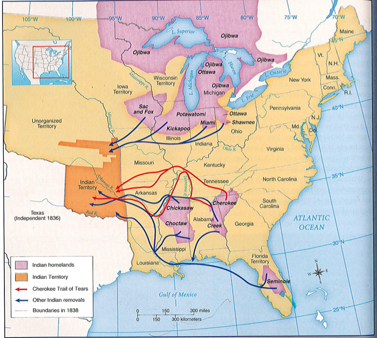 maps the indian removal act was ped in 1830 with the support of michigan governor lewis c the trail of tears left thousands of american indians